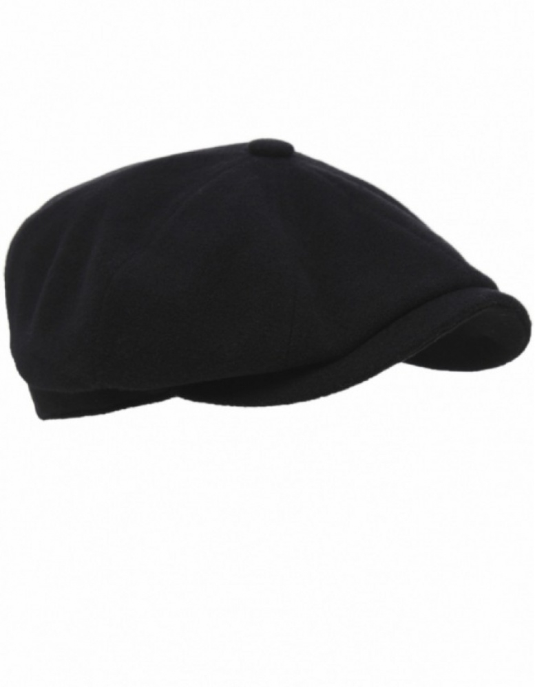 117099e05 Stetson Black Cashmere Blend Hatteras Flat Cap for men
