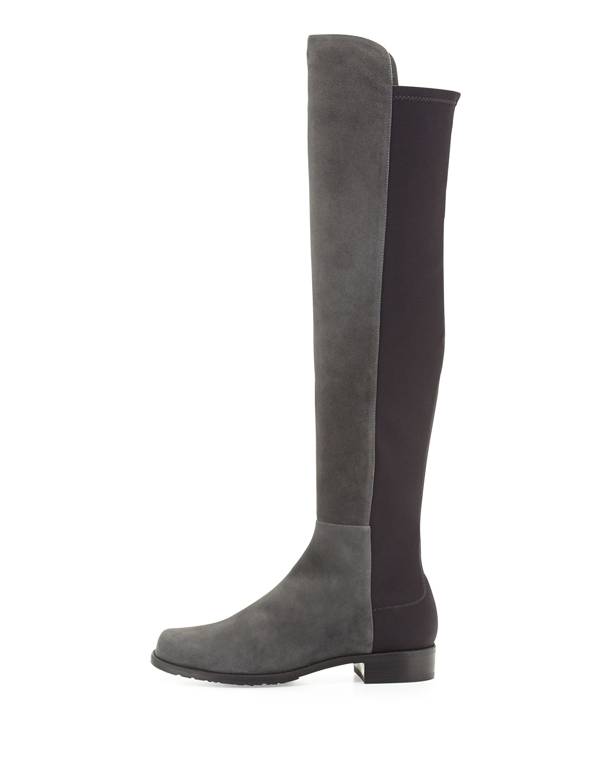 af9ebc21eb9 Lyst - Stuart Weitzman 50 50 Suede Over-The-Knee Boot in Gray