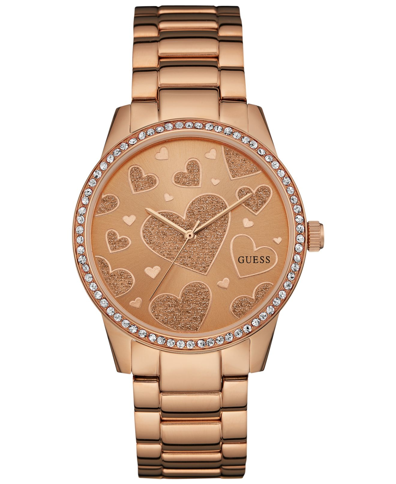 Guess Women's Rose Gold-tone Stainless Steel Bracelet ...
