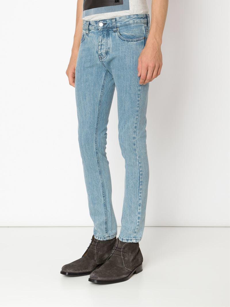 ami slim fit jeans in blue for men lyst. Black Bedroom Furniture Sets. Home Design Ideas