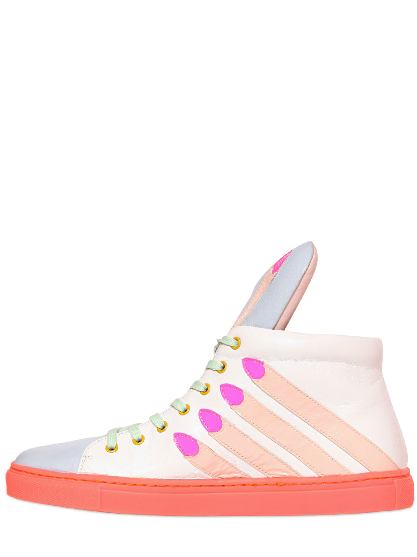 Minna Parikka Stick Em Up Nappa Leather Sneakers