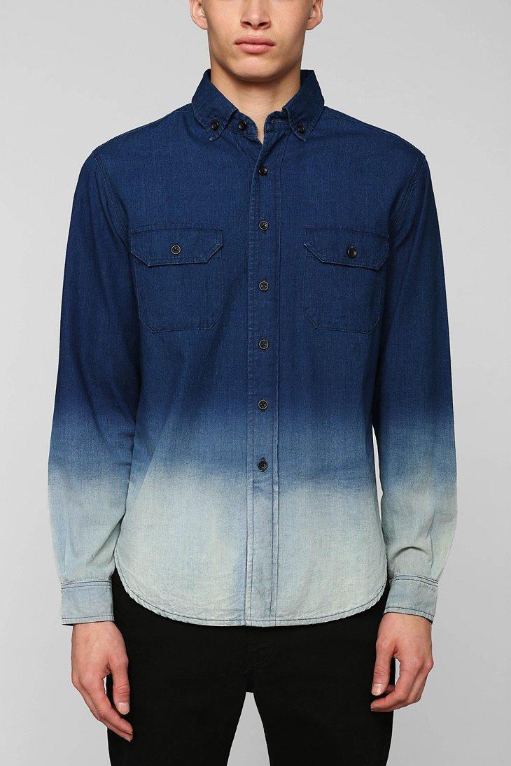 Lyst - 3x1 Dark Ombre Buttondown Shirt in Blue for Men