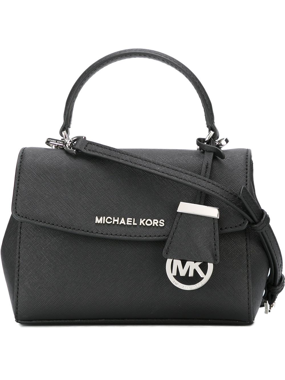 MICHAEL Michael Kors Leather Borsa Crossbody Ava in Black