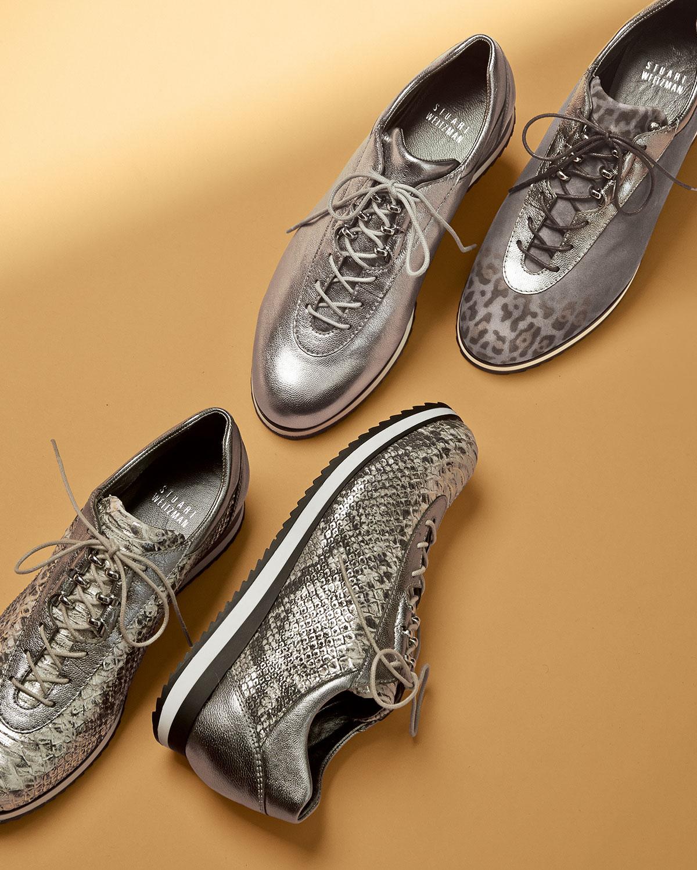 Stuart Weitzman Relay Metallic Sneaker