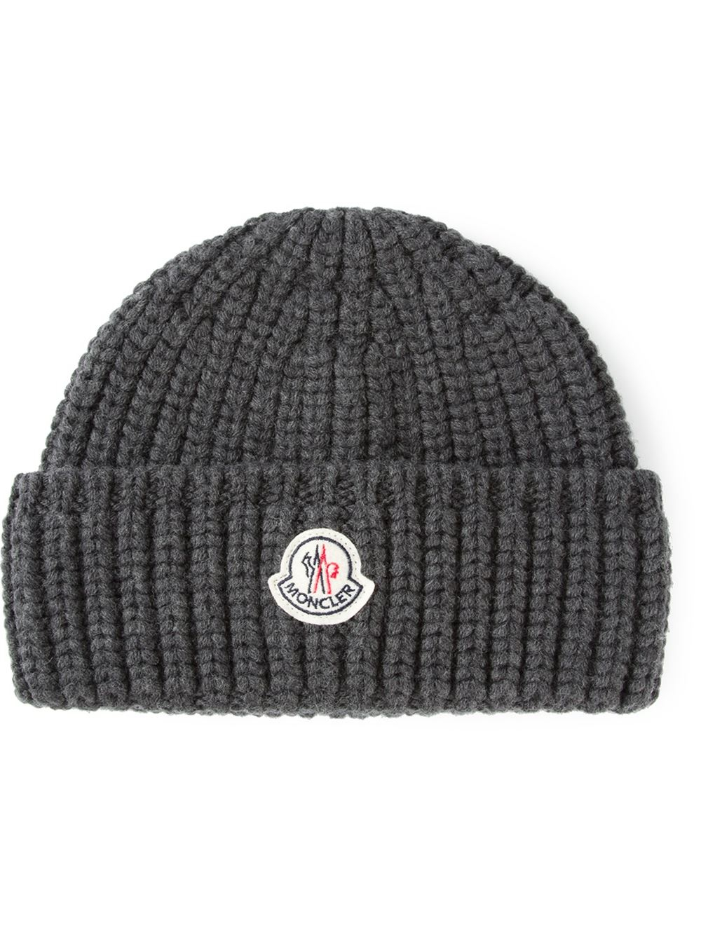a26cebaa8ca Lyst - Moncler Chunky Knit Beanie in Gray for Men