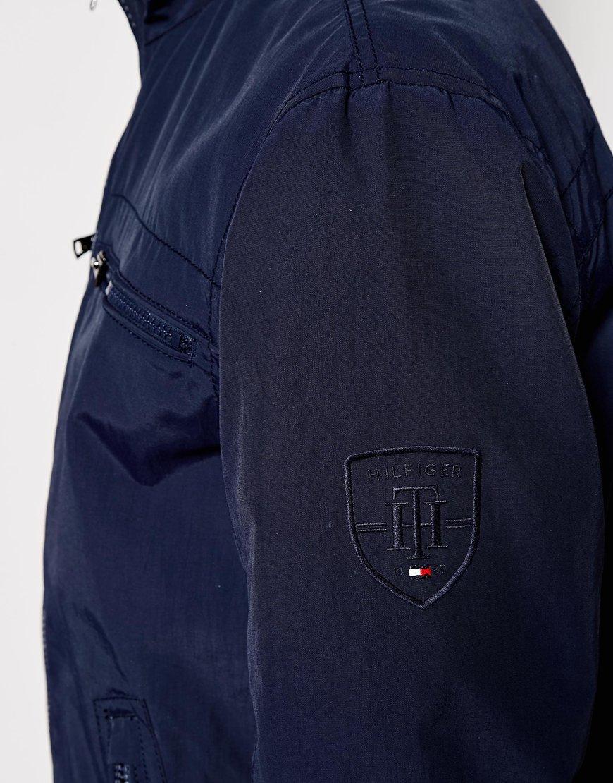 lyst tommy hilfiger bomber jacket in blue for men. Black Bedroom Furniture Sets. Home Design Ideas