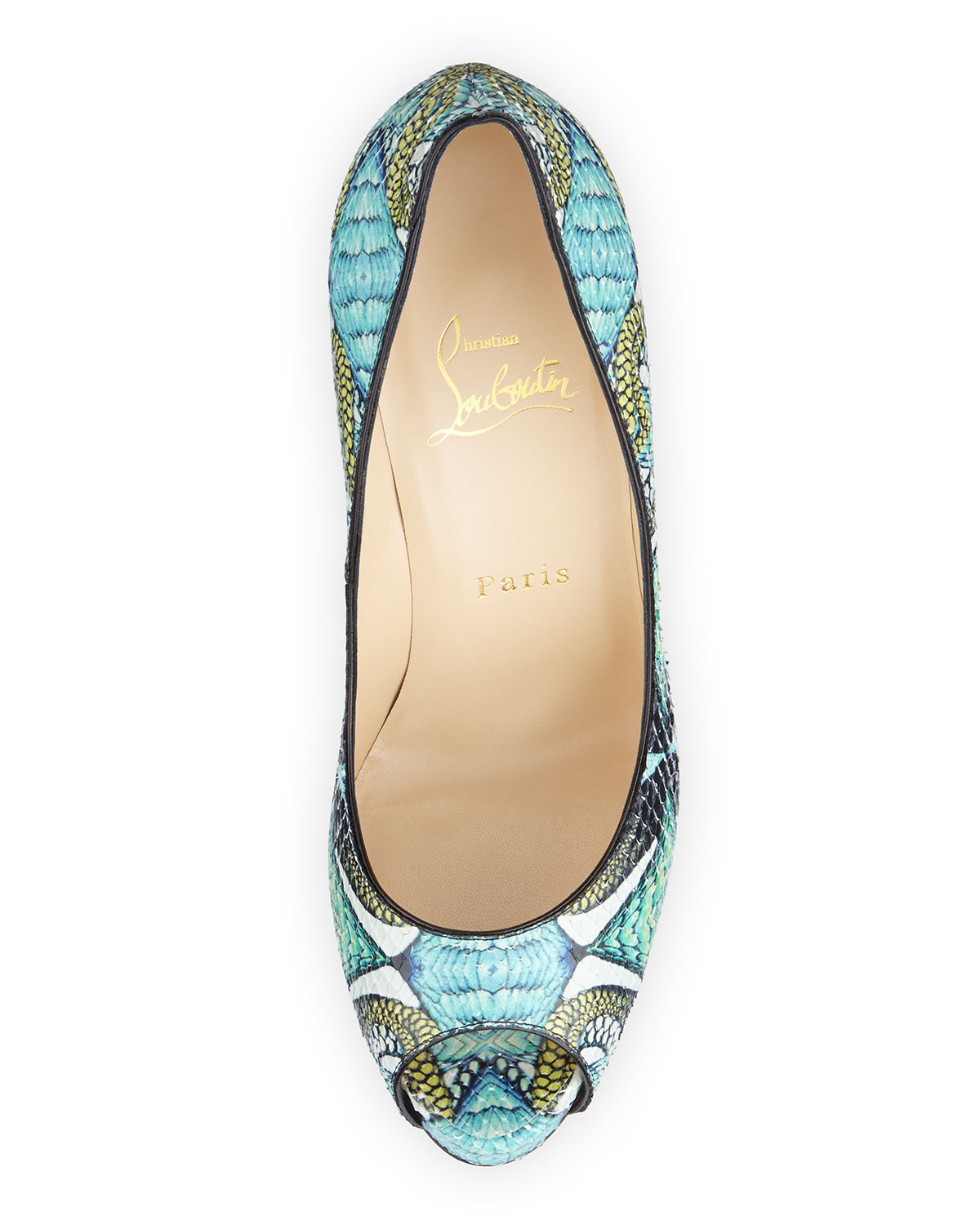 mens replica christian louboutin shoes - Christian louboutin Very Prive Python Pumps in Blue (red)   Lyst