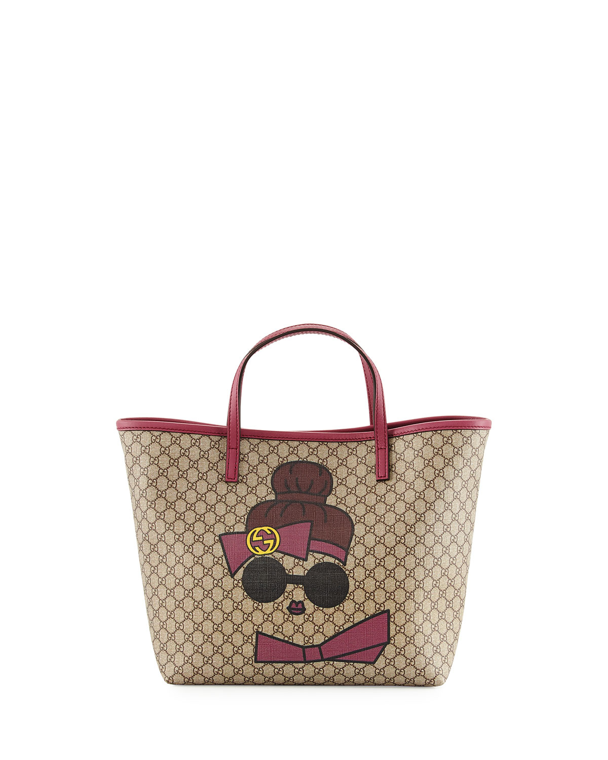 6a9198f08f04 Gucci Kid's Doll Print Gg Supreme Tote Bag in Natural - Lyst