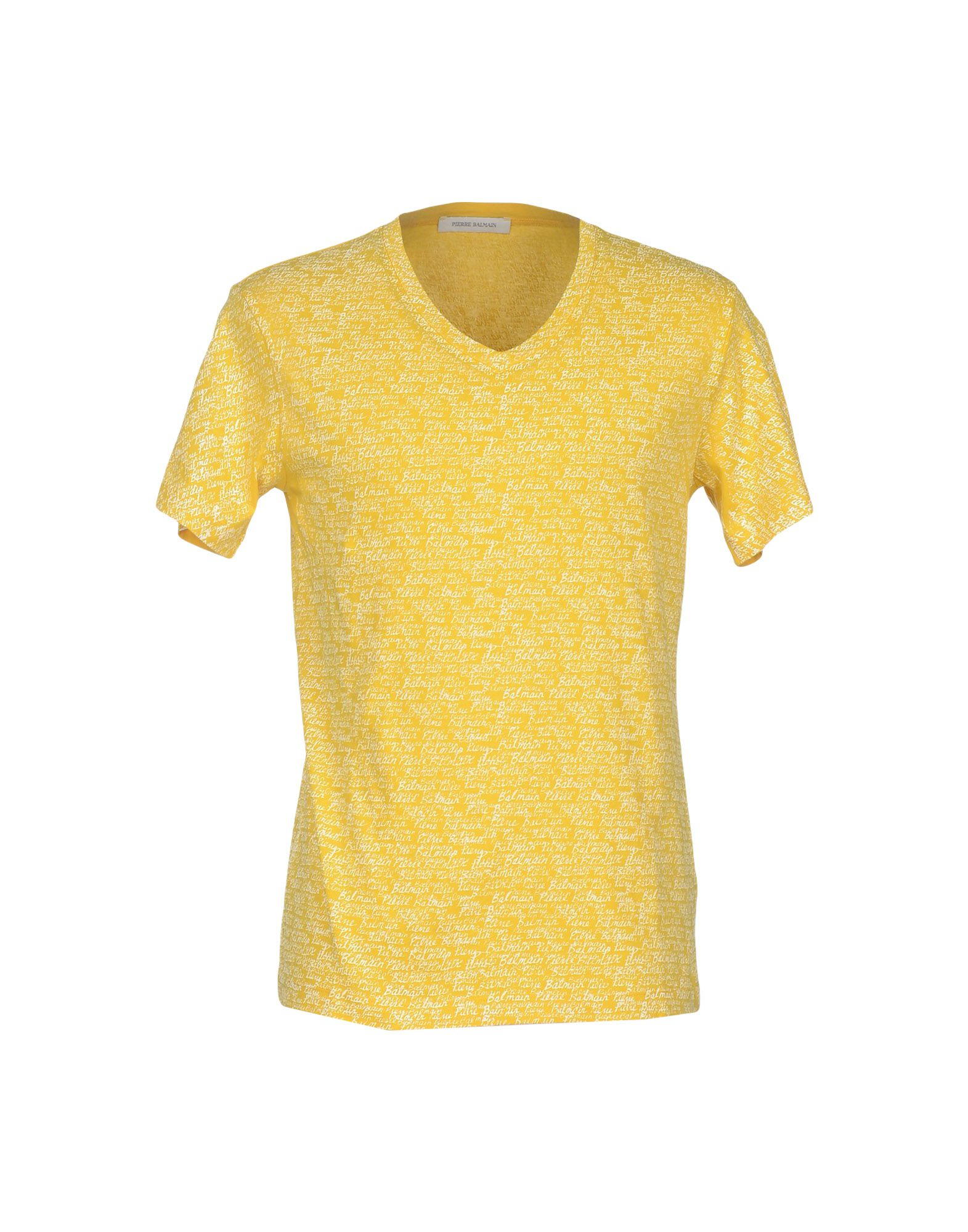 balmain t shirt in yellow for men lyst. Black Bedroom Furniture Sets. Home Design Ideas
