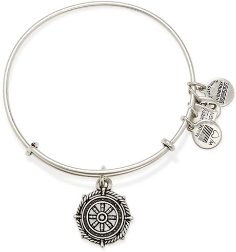 alex and ani take the wheel expandable wire bracelet in