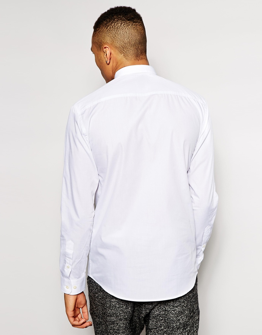 Lyst Jack Jones Concealed Button Down Shirt With