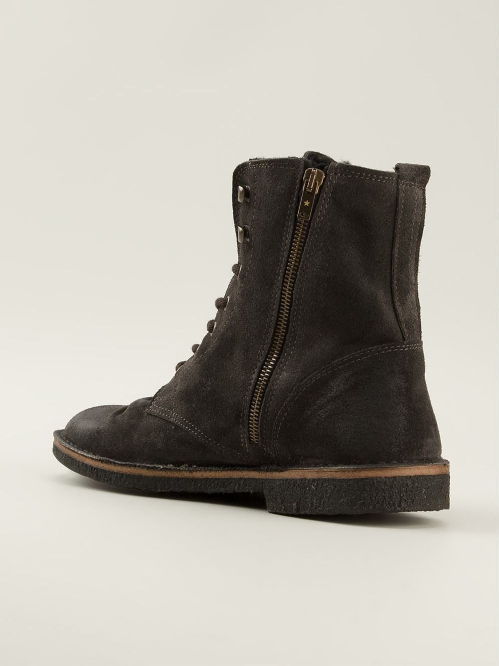 Golden goose deluxe brand Lace-Up Ankle Boots in Gray for Men | Lyst
