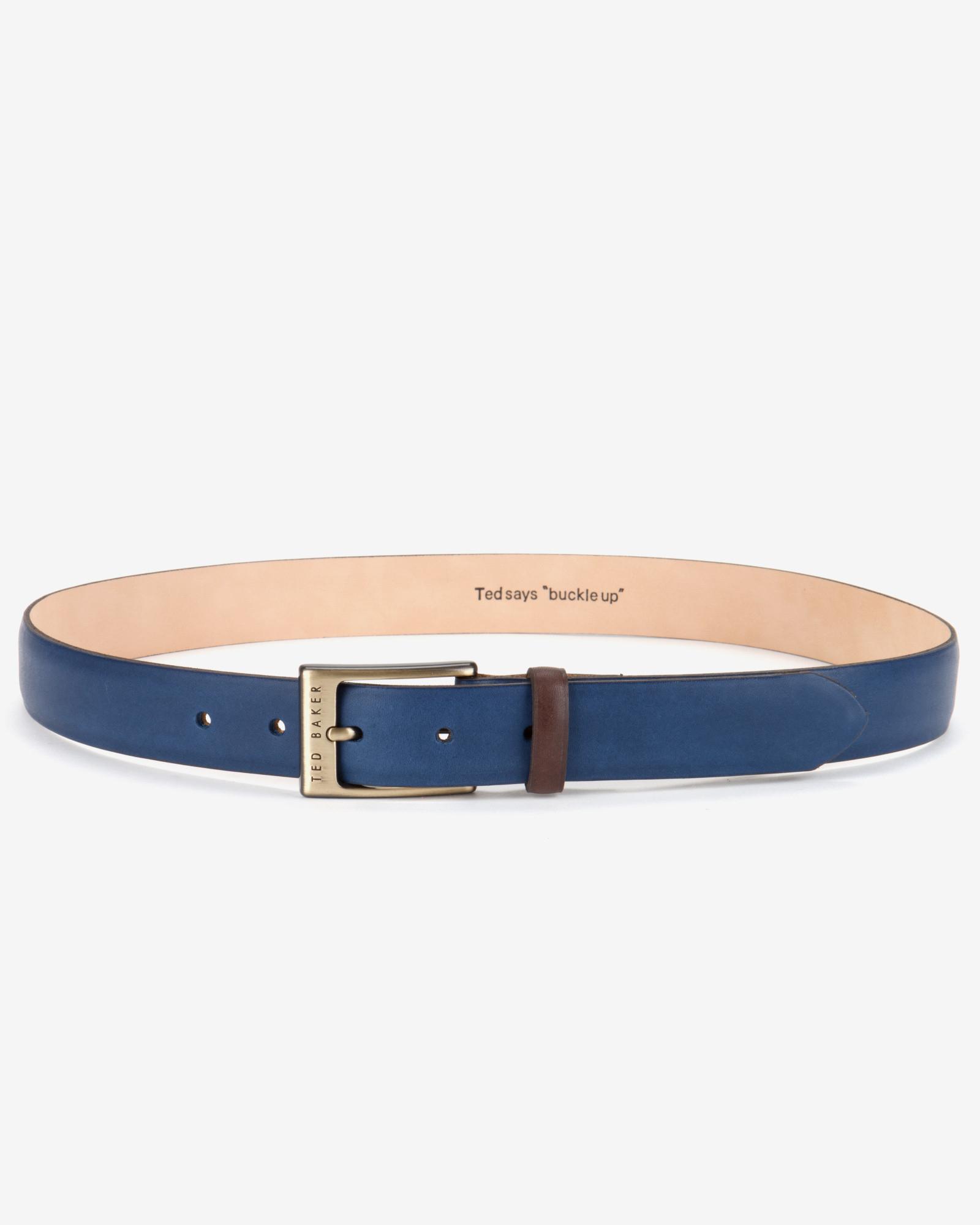 785ffb05d784 Ted Baker Block Colour Belt in Blue for Men - Lyst