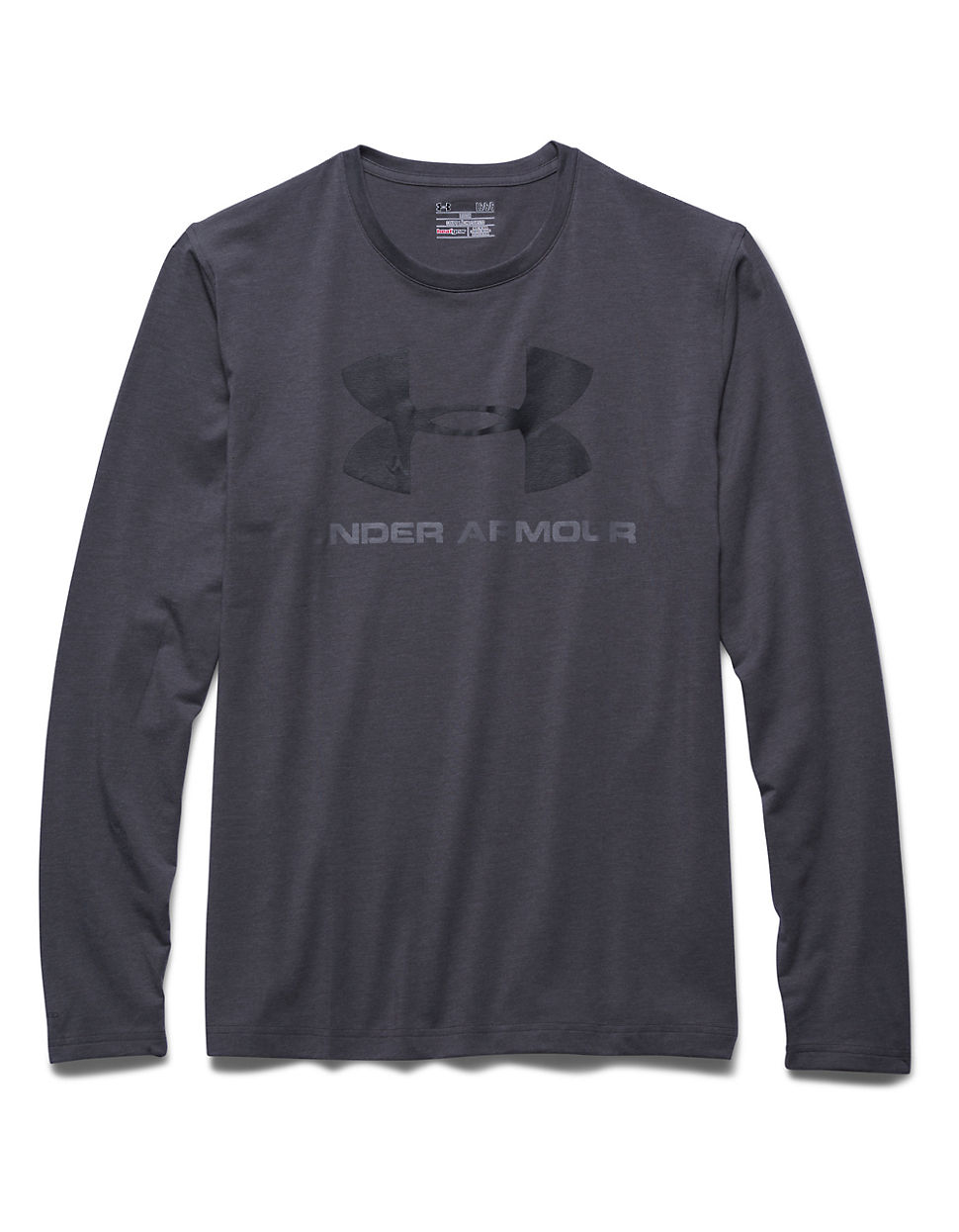 Under armour sportstyle logo shirt in gray for men lyst for Gray under armour shirt