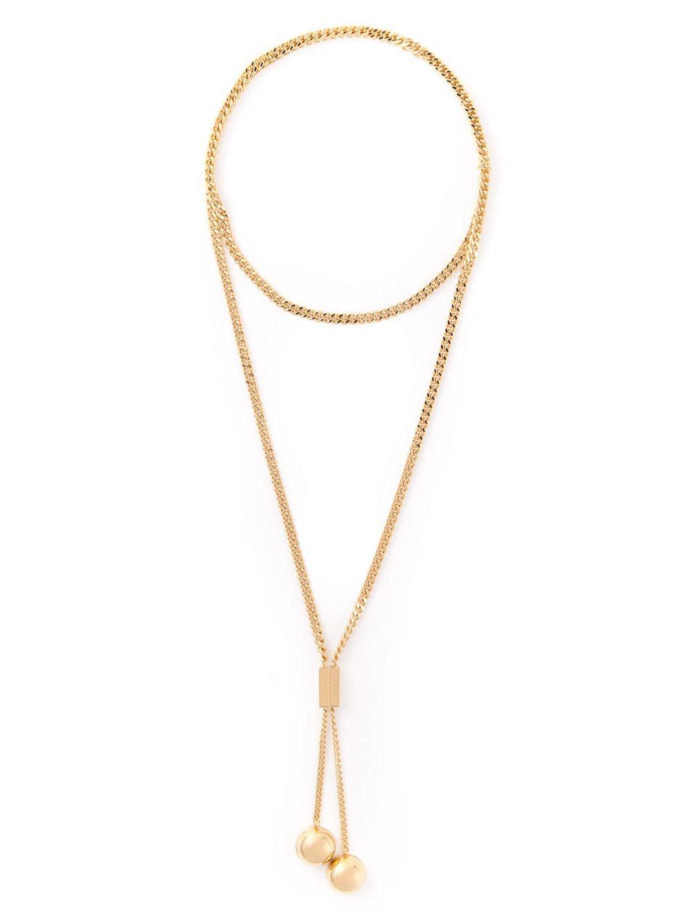 Chloé polished circle pendant - Metallic T8KHY