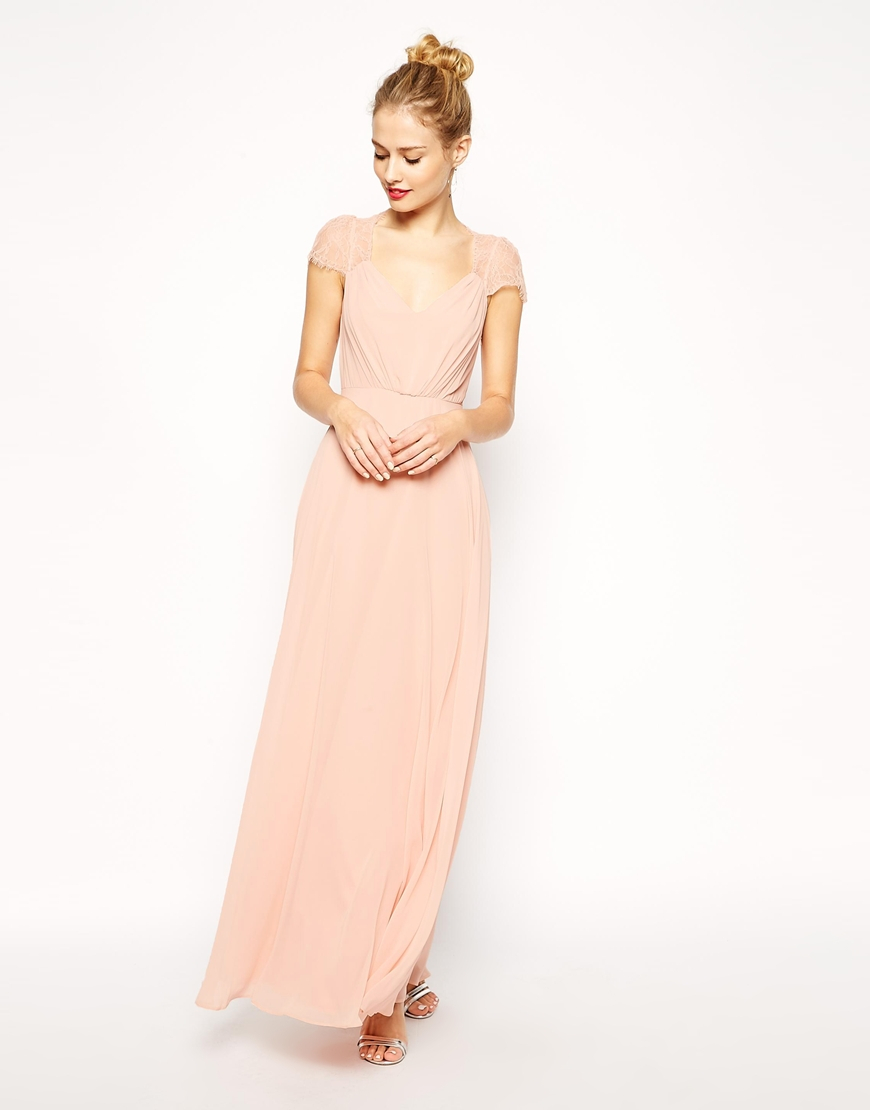 Asos Kate Lace Maxi Dress In Blue Navy Lyst