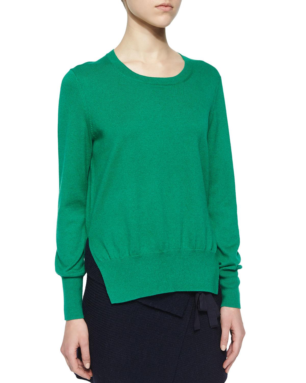 Étoile isabel marant Kerstin Split-side Cotton/wool Sweater in ...