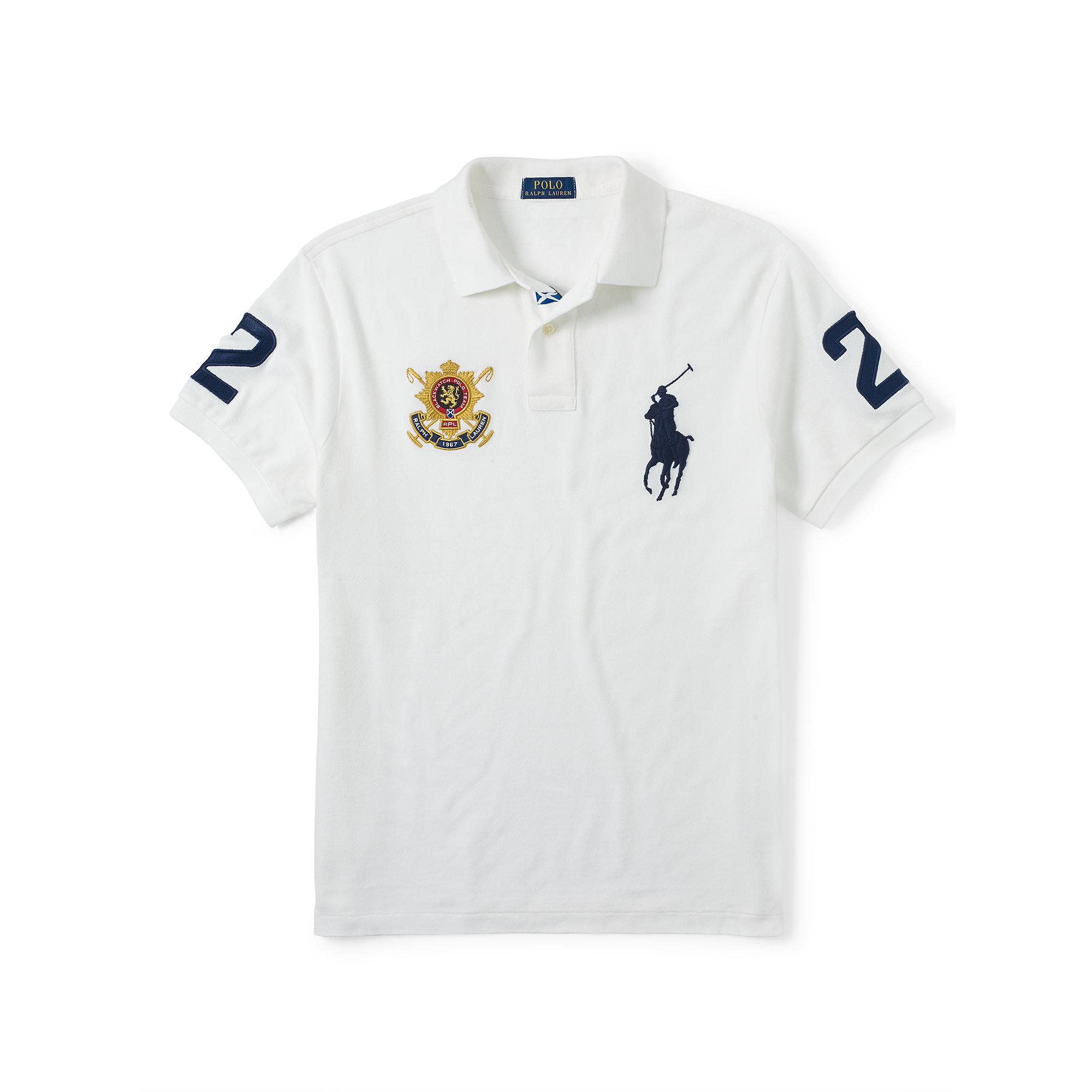ralph lauren polo shirts white