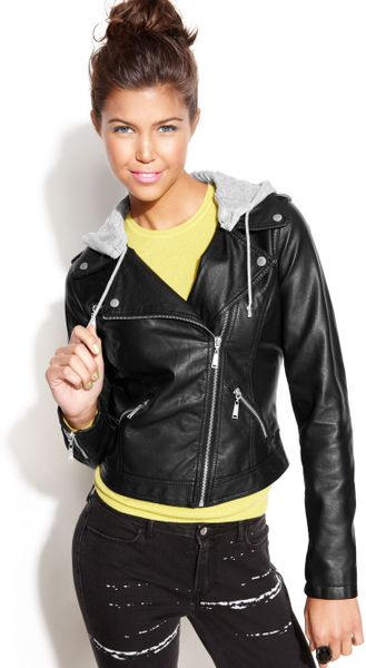 Black Leather Jacket For Juniors | Outdoor Jacket