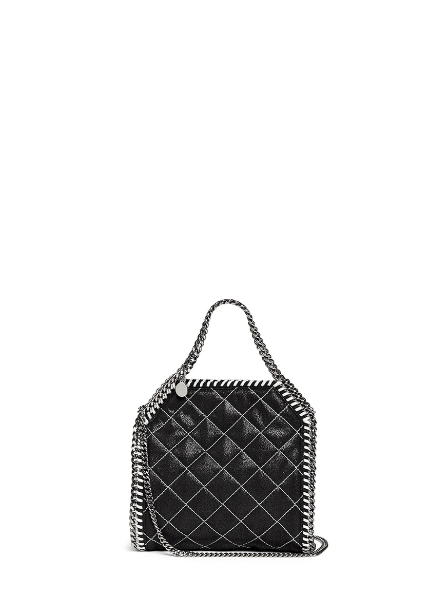 ba8125a4c65 Previously sold at Lane Crawford · Womens Stella Mccartney Falabella huge  discount 90917 0d770  Lyst - Stella Mccartney Falabella Quilted Metallic  Mini Tote ...
