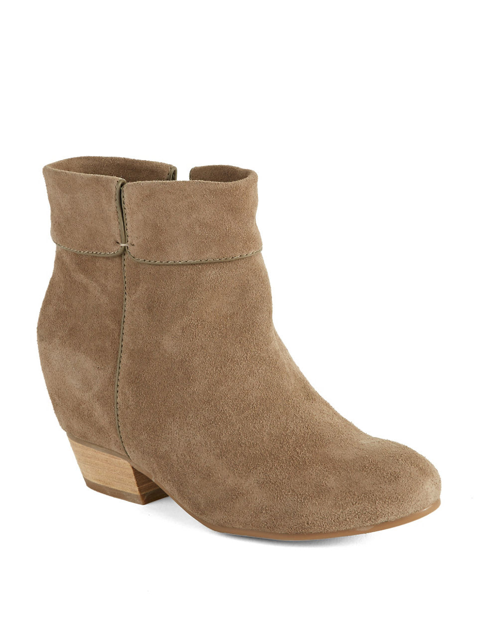 lucky brand teddye ankle boots in brown lyst