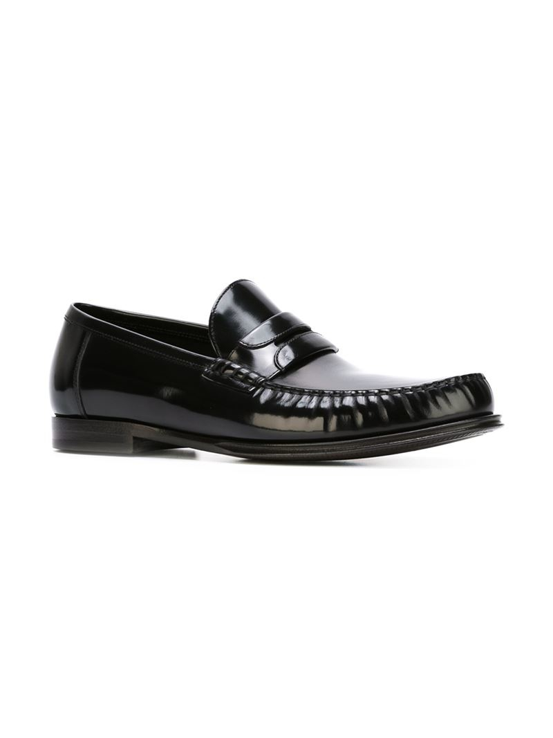 Dolce & Gabbana Penny Loafers in Black for Men