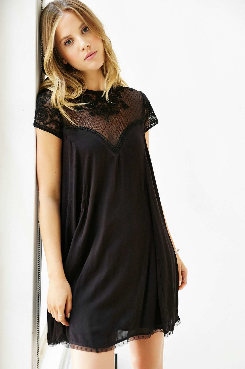 Kimchi Blue Lily Embellished Trapeze Dress In Black Lyst