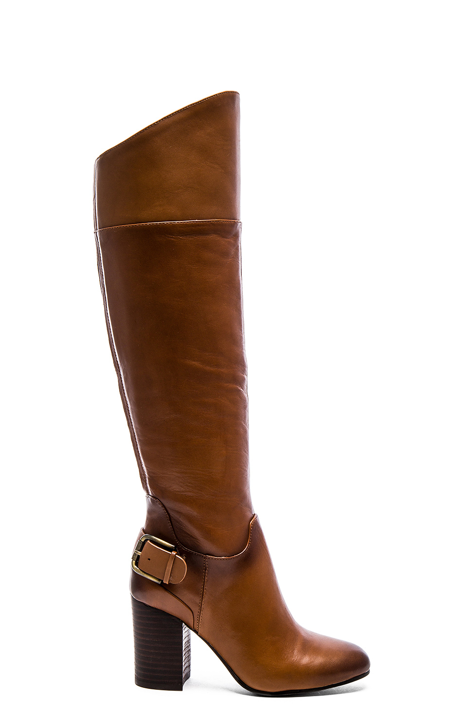 vince camuto sidney knee high boots in brown lyst
