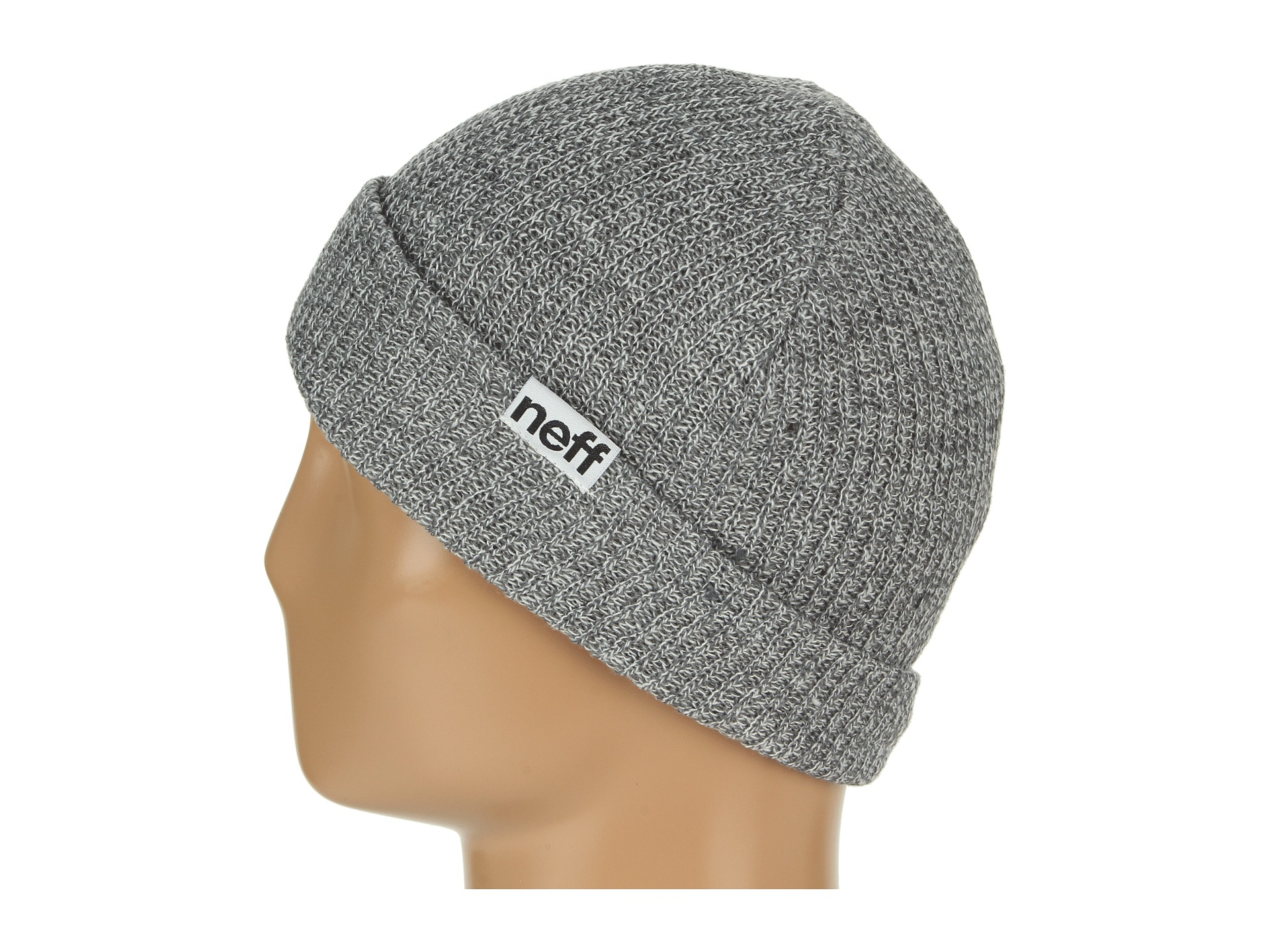 85827e847ae Lyst - Neff Fold Beanie in Gray