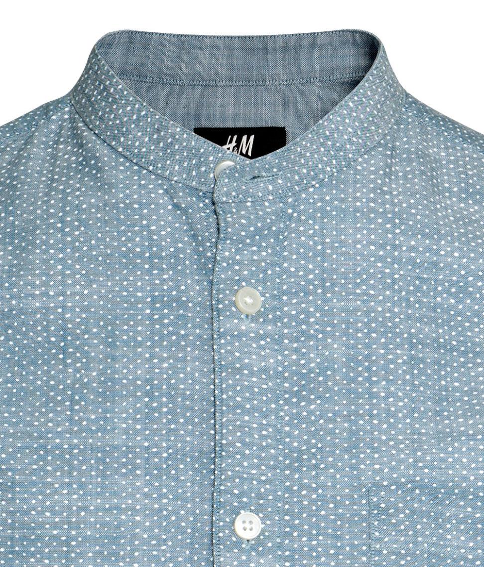 Collarless shirts for mens artee shirt for Collarless white shirt slim fit