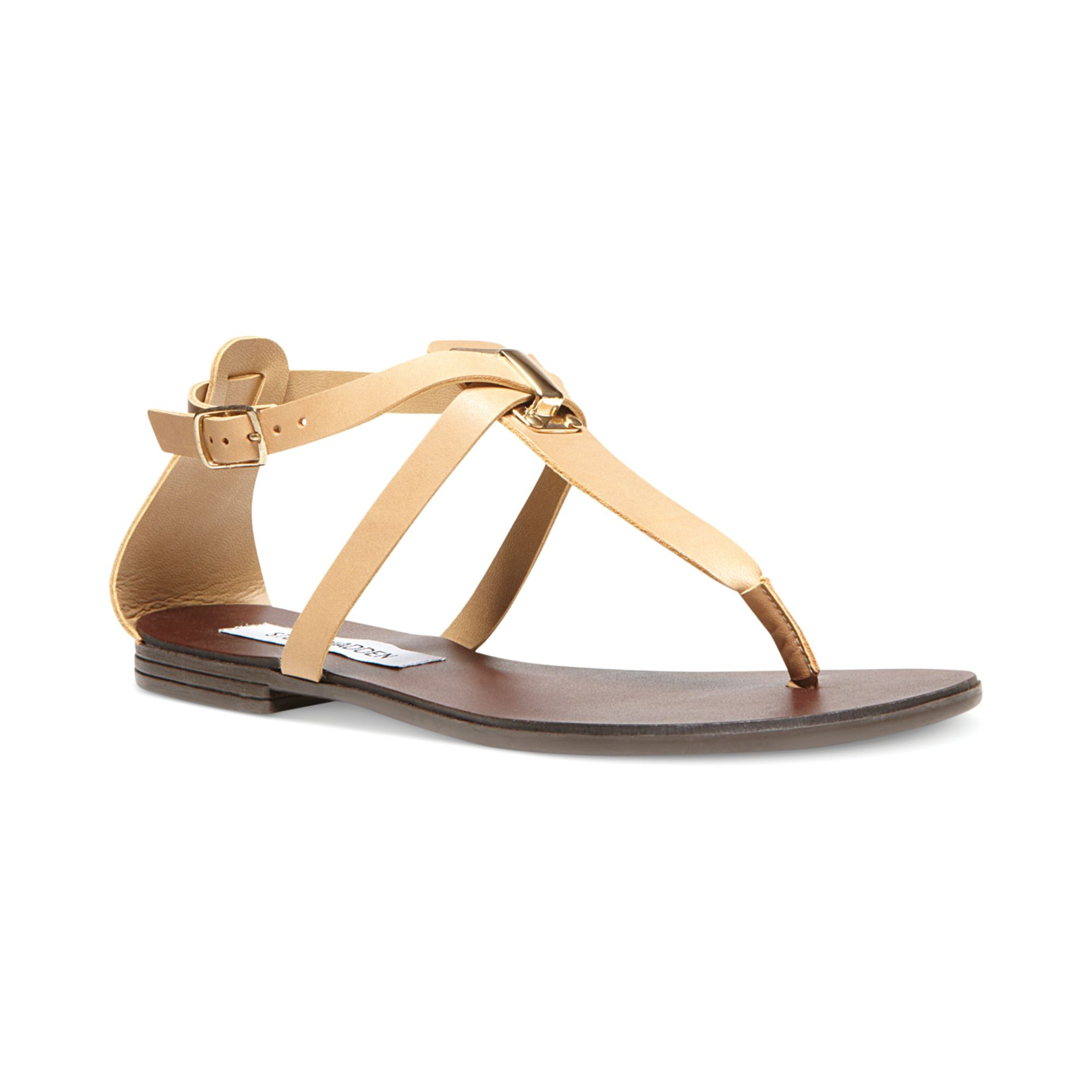 aad13f38d Steve Madden Kween Flat Thong Sandals in Natural - Lyst