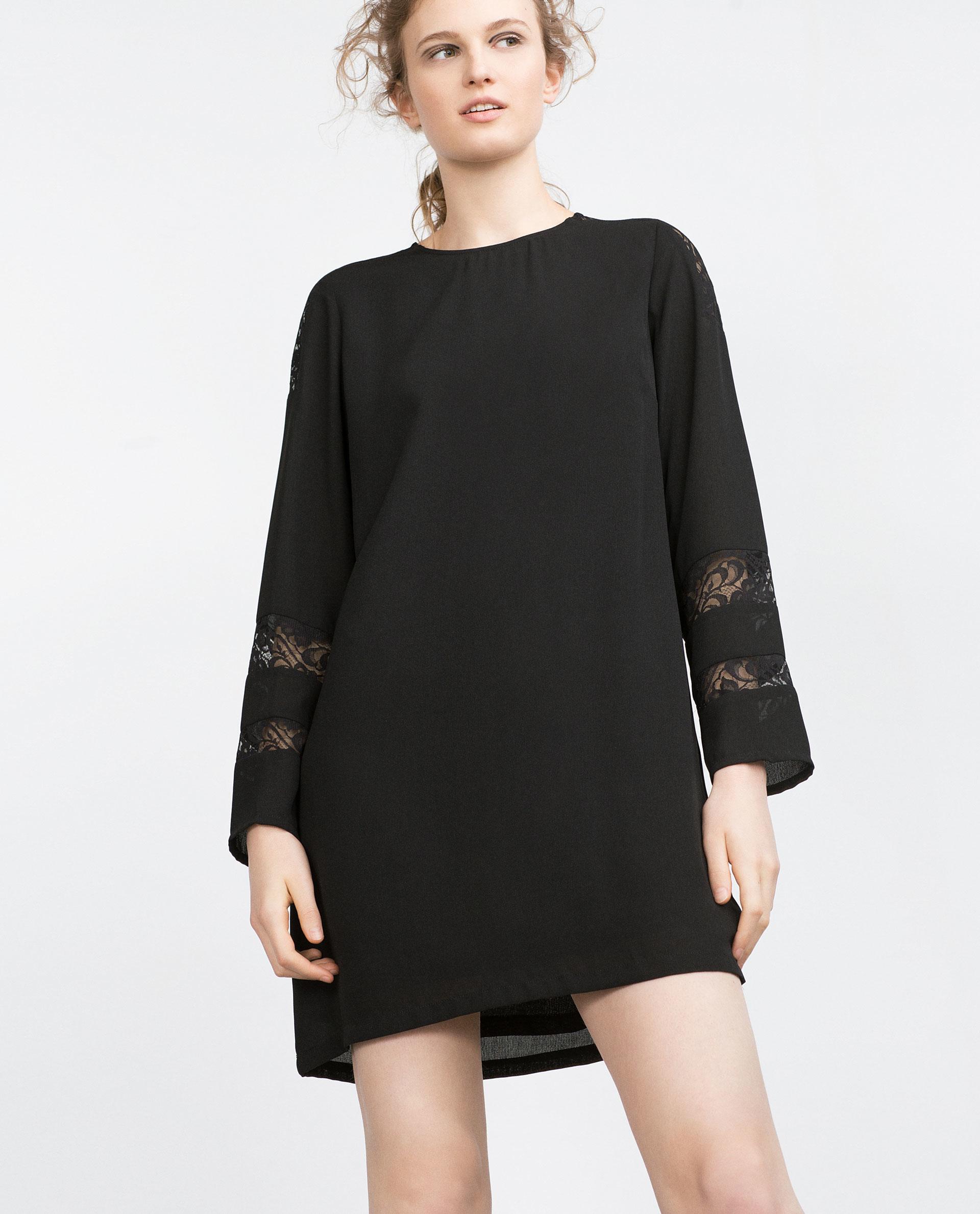 Black straight cut dress