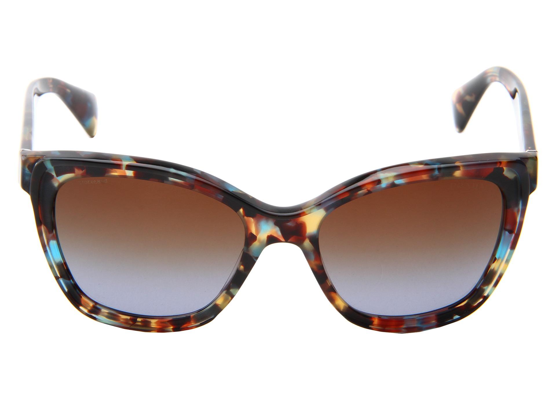 Prada Cat Eye Sunglasses in Blue (Havana Spotted Blue) Lyst