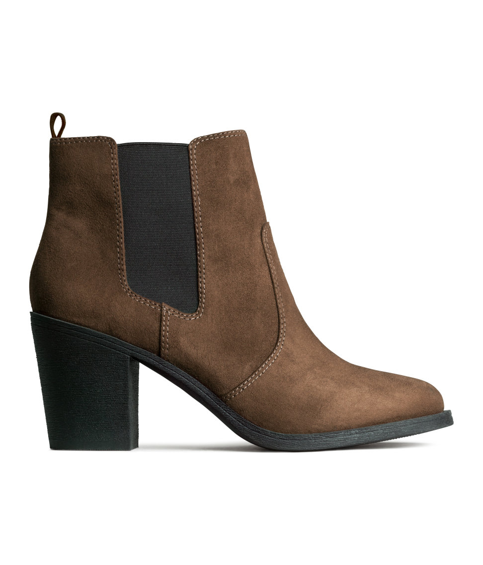 H&M Ankle Boots in Brown - Lyst