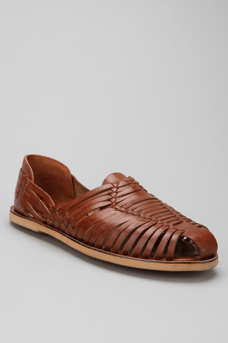 b6642fb98ee70 Urban Outfitters Brown Huarache Leather Sandals for men