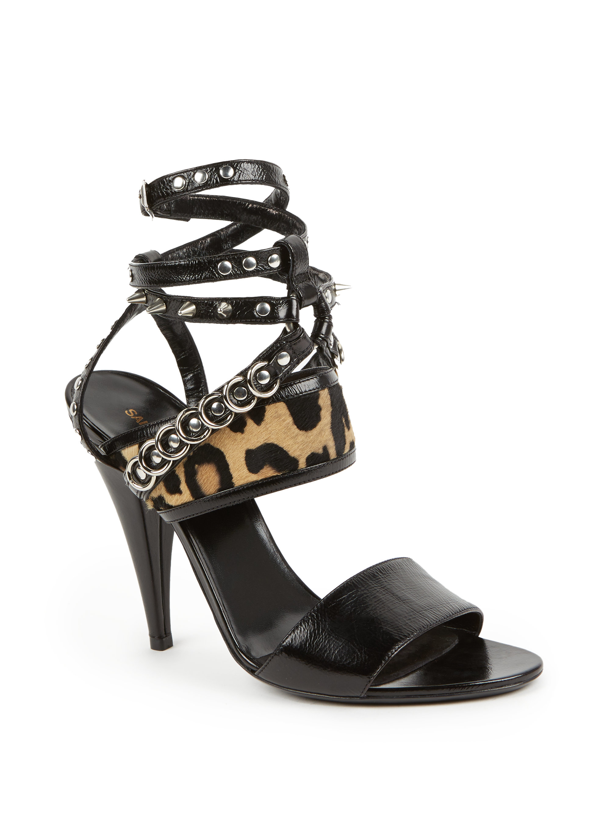 Leopard Print Strappy Heels