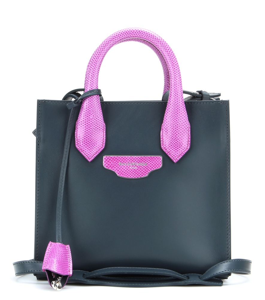 Lyst - Balenciaga Nude Work Xs Leather Tote in Black