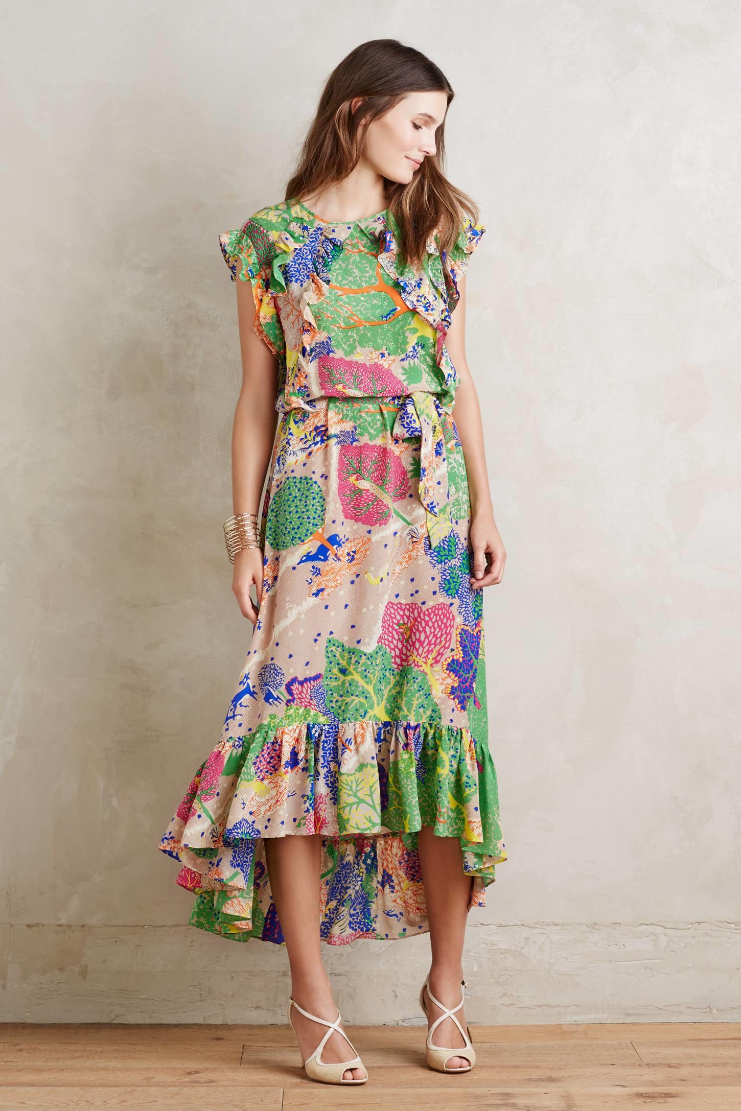 Love binetti Cebu Silk Maxi Dress in Green | Lyst