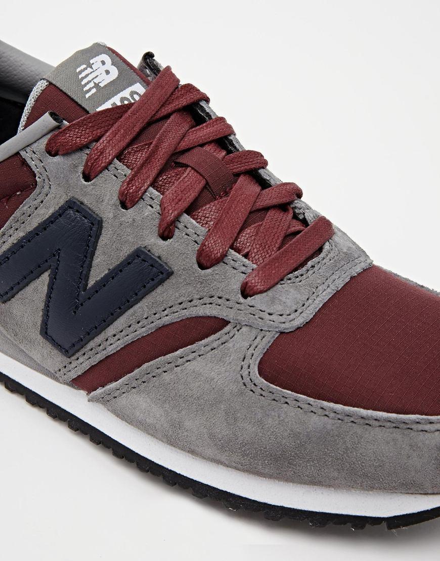 new balance grey and burgundy