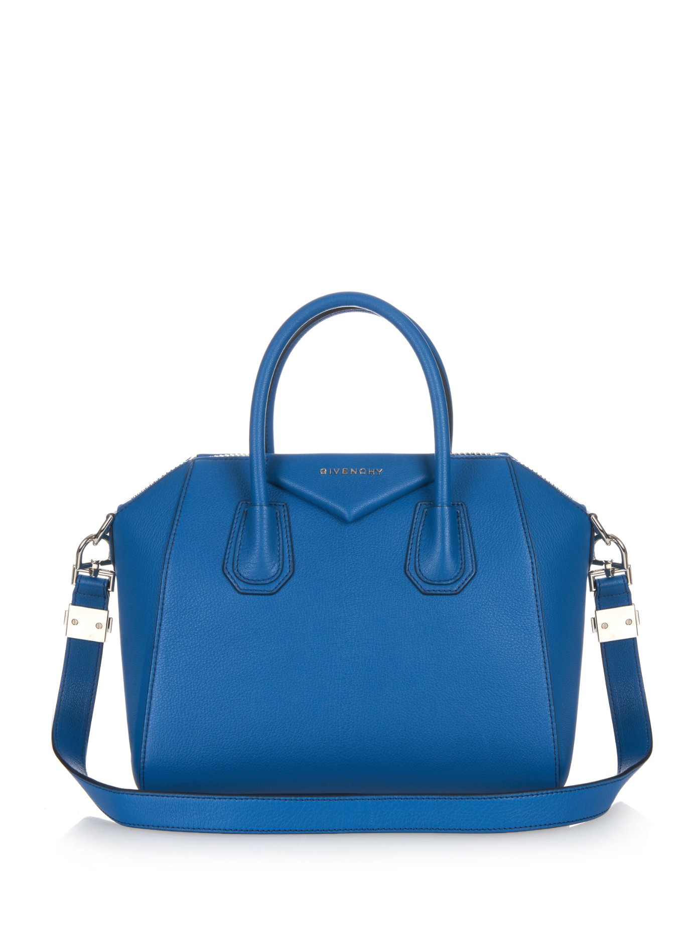 4cc8aa1e2cf3 Lyst - Givenchy Antigona Small Leather Tote in Blue