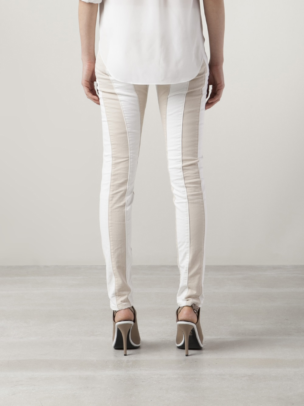 closed pedal star skinny jeans in white lyst. Black Bedroom Furniture Sets. Home Design Ideas