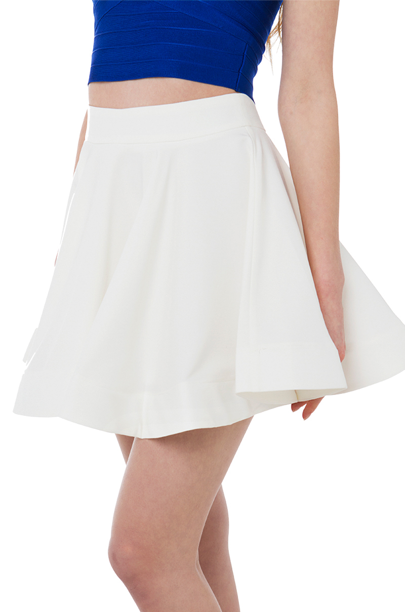 Akira Girl Like You White Skater Skirt in White | Lyst