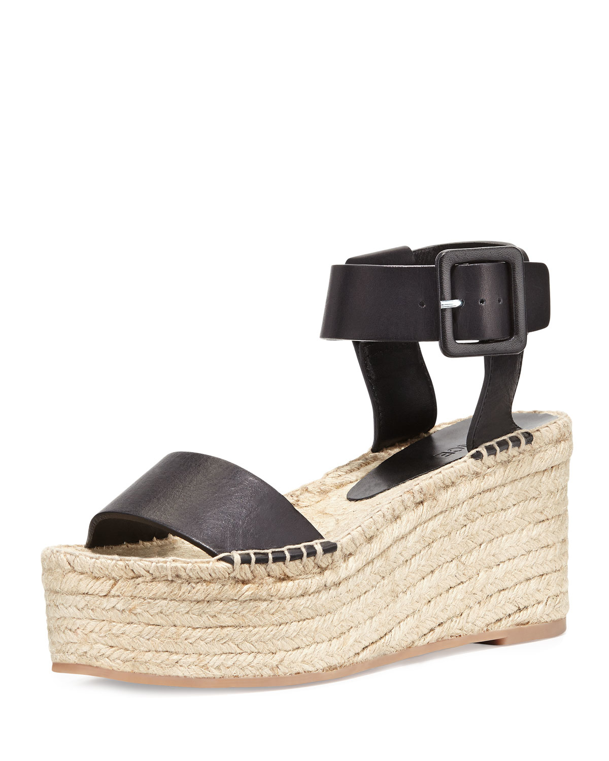 Lyst Vince Abby Leather Espadrilles In Black