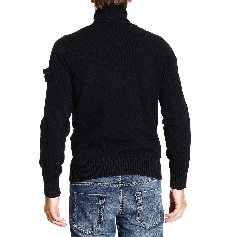 stone island sweater winter cotton turtleneck in blue for men lyst. Black Bedroom Furniture Sets. Home Design Ideas