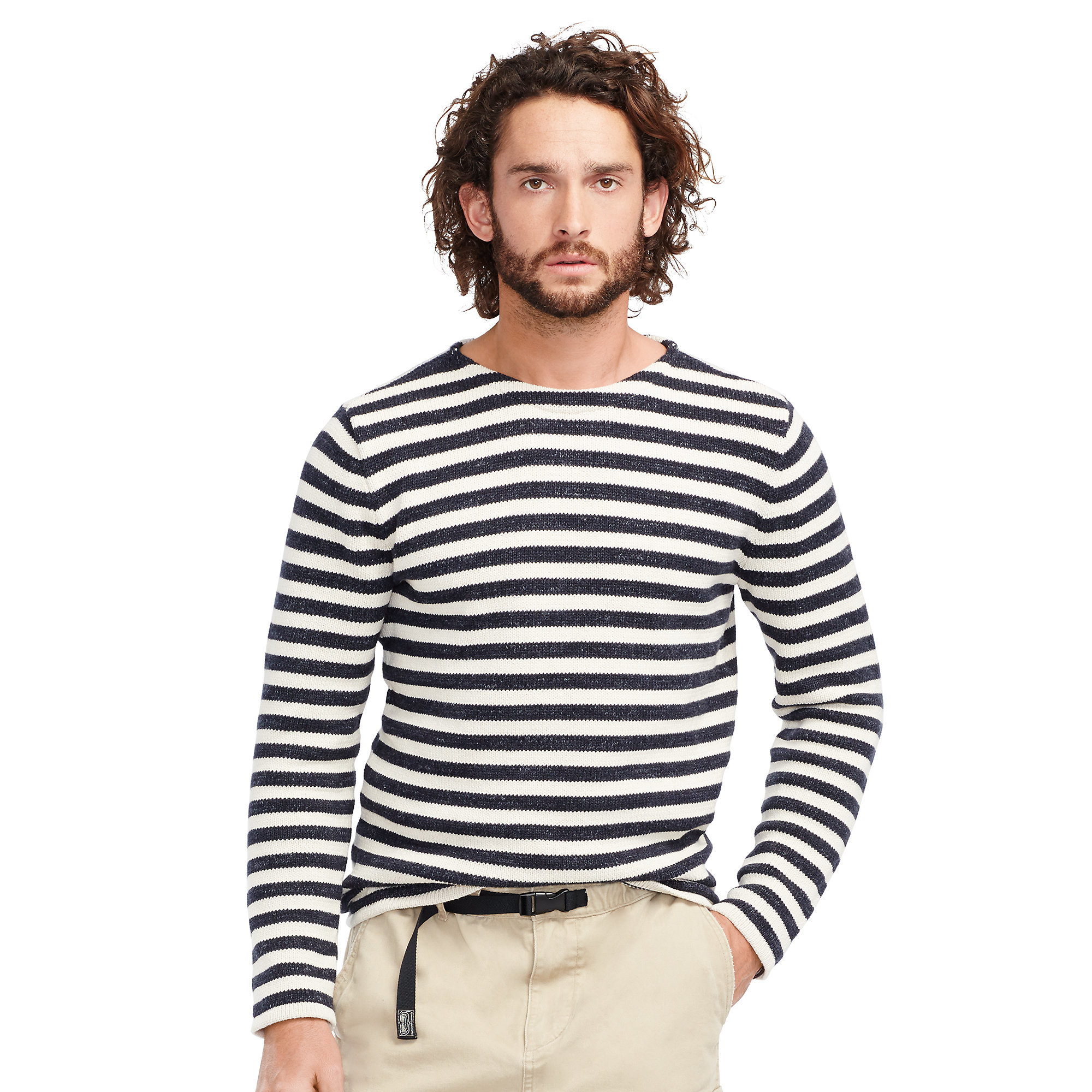 Denim \\u0026amp; supply ralph lauren Striped Cotton Sweater in Beige for Men (cream