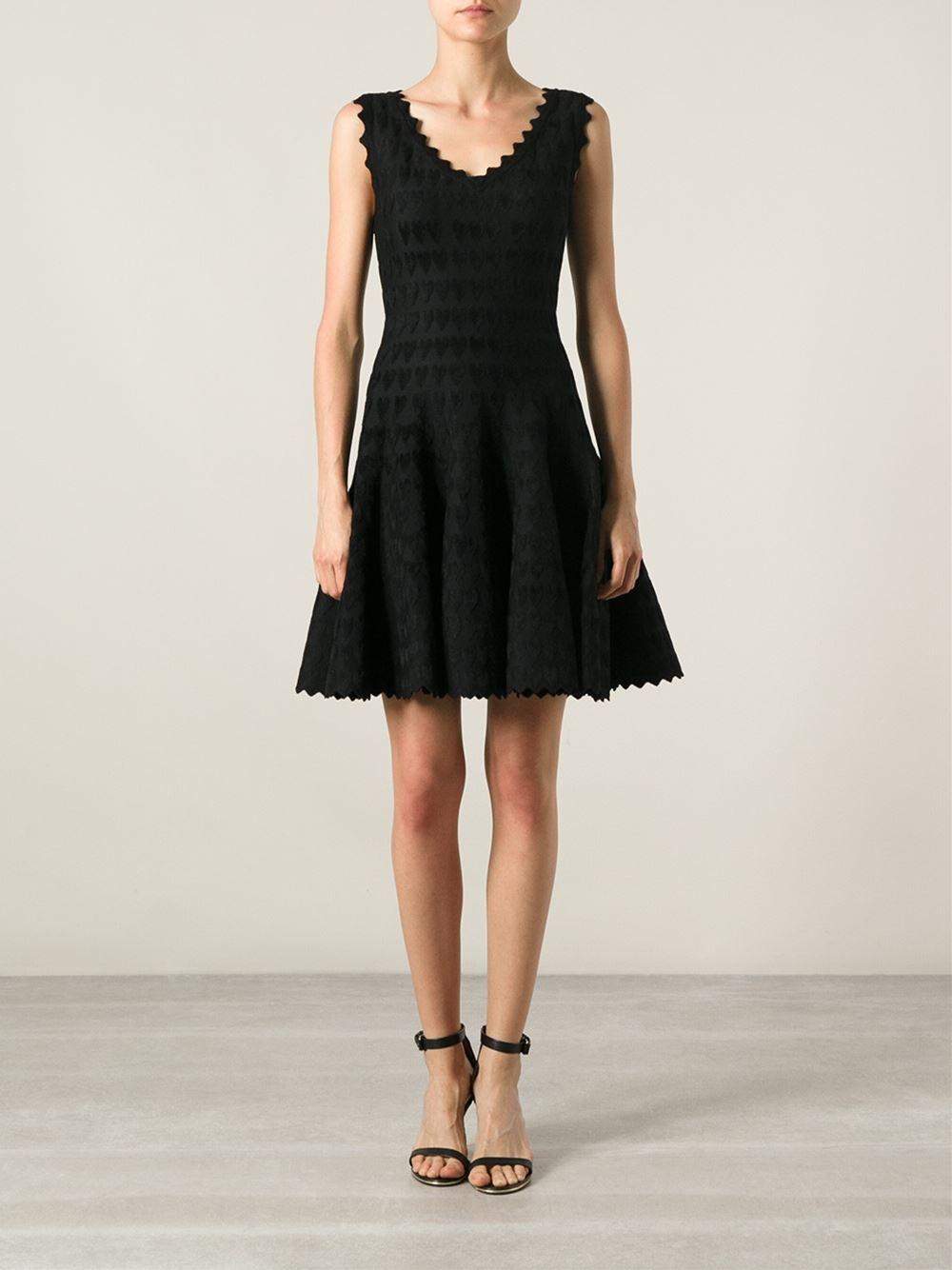 Lyst Ala 239 A Embossed Heart Dress In Black