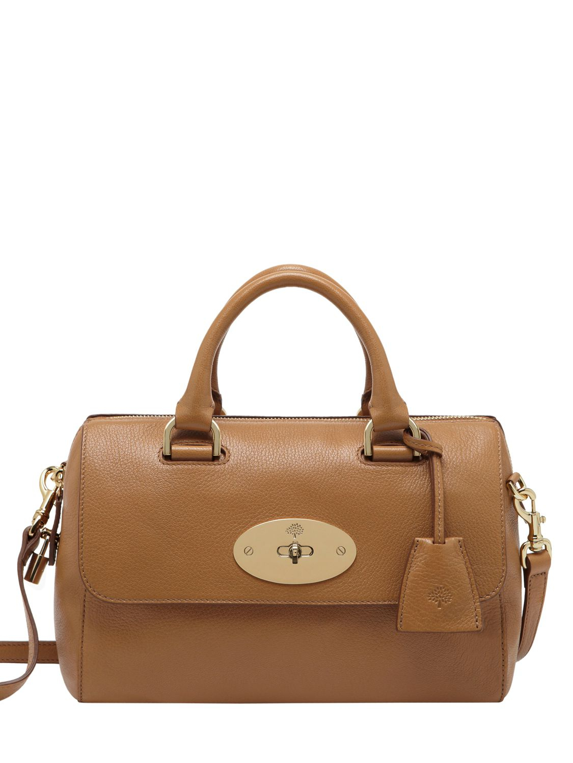 Lyst Mulberry Small Del Rey Glossy Leather Bag In Brown