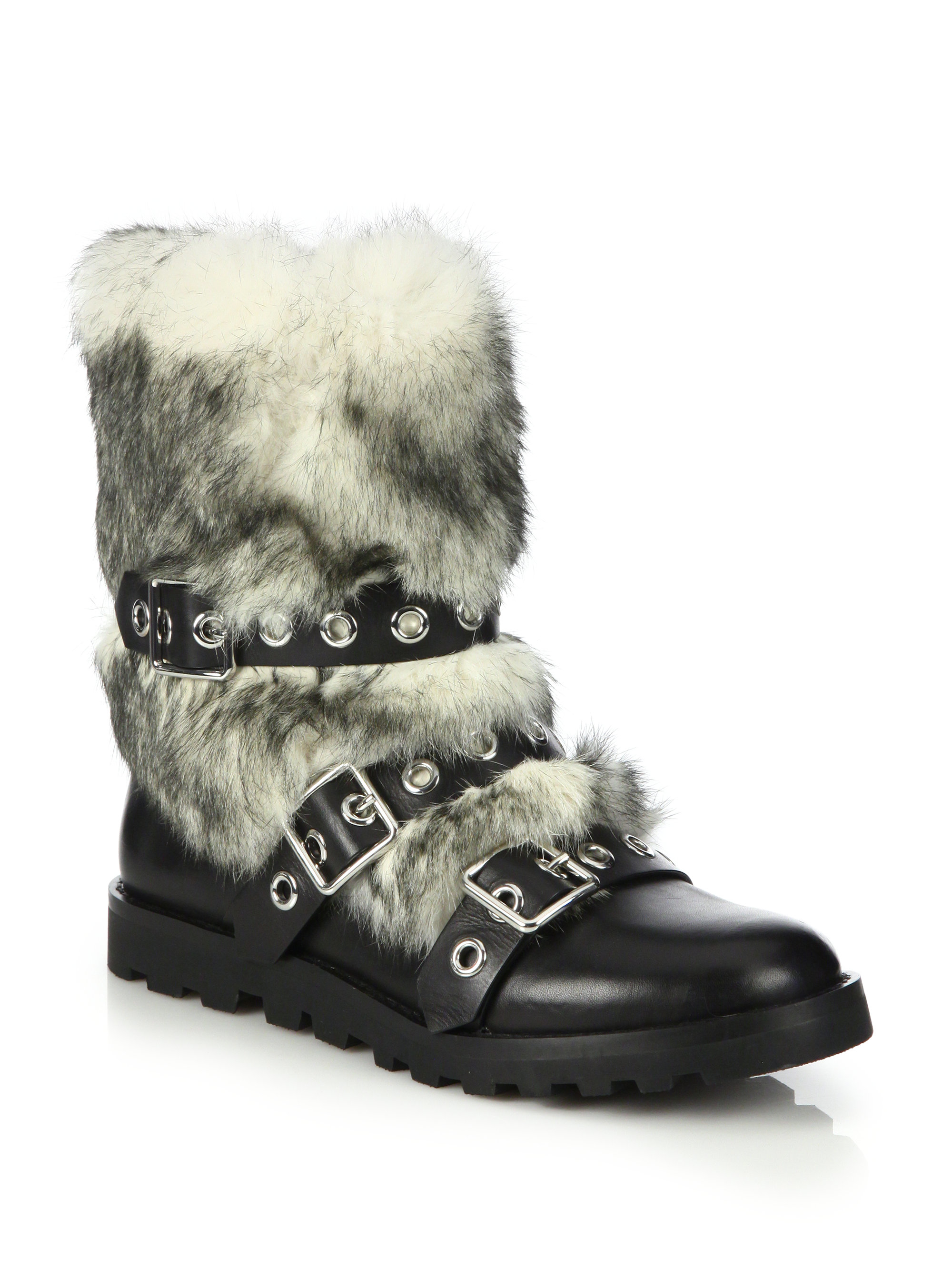 Marc Jacobs Fur-Trimmed Suede Boots good selling cheap price sale official site outlet lowest price HRpdcP