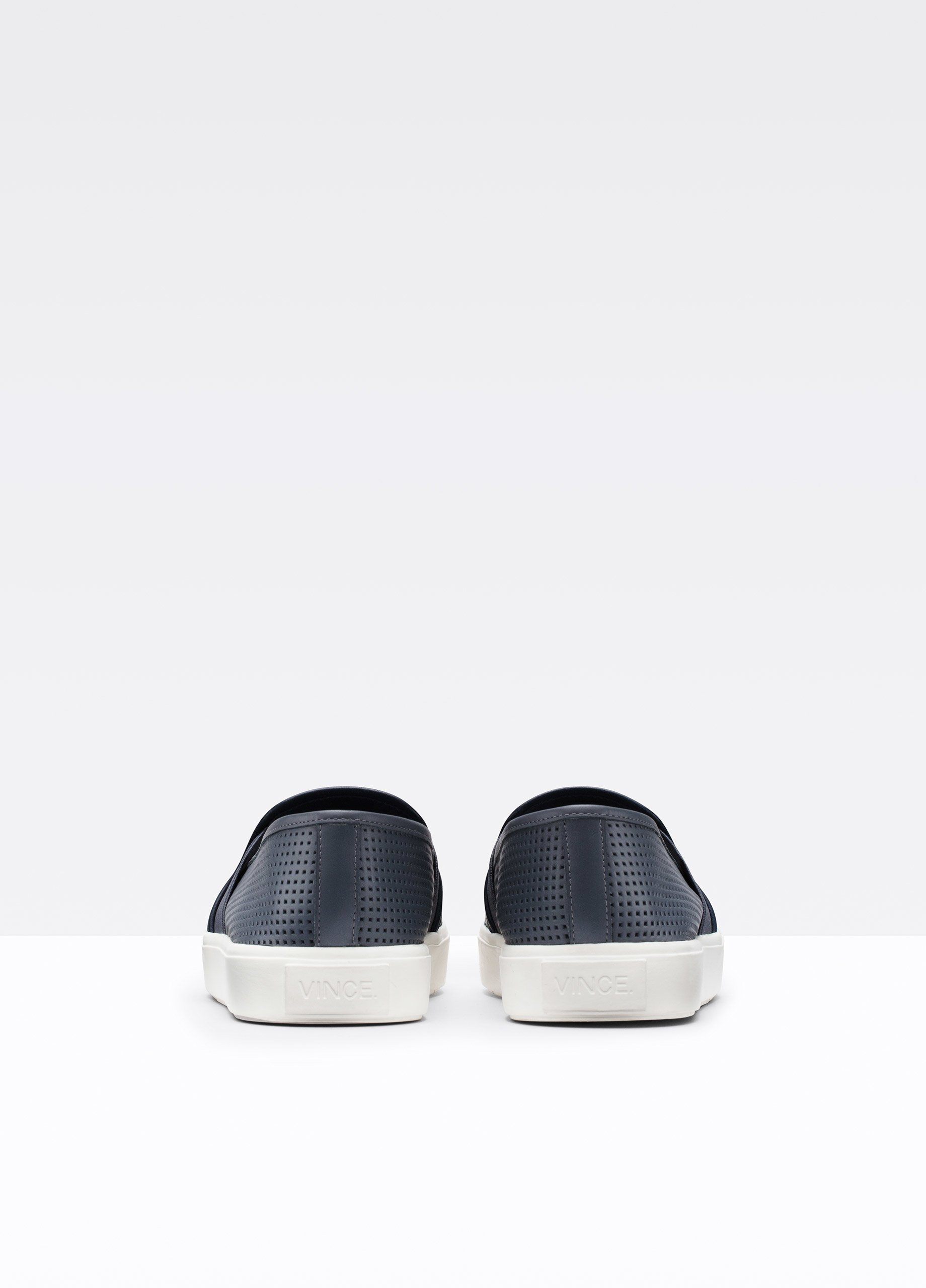Vince Blair Perforated Leather Low-Top Sneakers in Chambray Indigo (Blue)