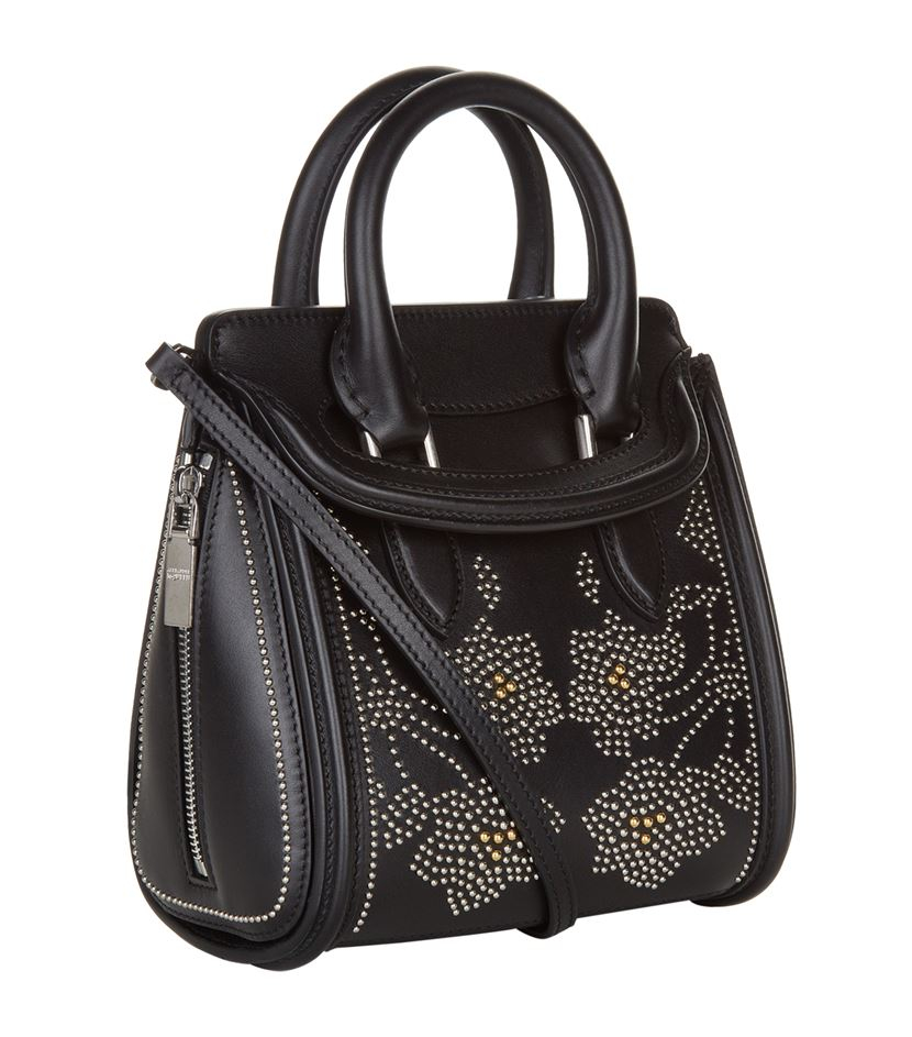 Alexander mcqueen Mini Heroine Studded Bag in Black | Lyst